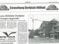 Zeitungsartikel Einweihung Dorfplatz Hittfeld | KLICK = Foto vergrößern