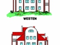 Ansicht Westen + Osten für Verkaufsunterlagen | KLICK = Foto vergrößern