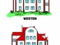 Ansicht Westen + Osten für Verkaufsunterlagen