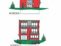 Ansichten Nord und Süd | KLICK = Foto vergrößern