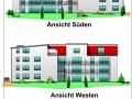 Ansichtszeichnungen Balkonseiten | KLICK = Foto vergrößern