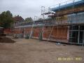 Fassade Eingangsseite im Bau | KLICK = Foto vergrößern