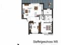 Wohnung 8, Staffelgeschoss | KLICK = Foto vergrößern