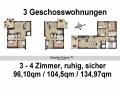 1.Obergeschoss 3 Wohnungen | KLICK = Foto vergrößern