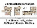 Erdgeschoss 3 Wohnungen | KLICK = Foto vergrößern